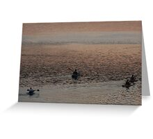 Sunset Fading to Blue Greeting Card