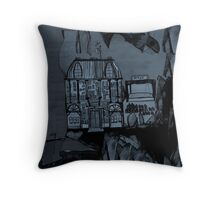 whale falling off a cliff Throw Pillow