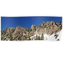 Peaks Near Red Pine Lake Poster