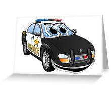 Sheriff BWT Car Cartoon Greeting Card