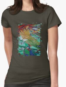 Mermaid and Butterflies  Womens Fitted T-Shirt