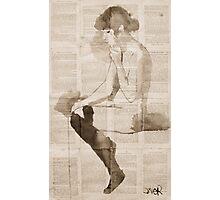black stockings Photographic Print
