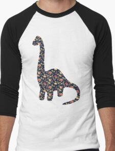 Floral Dinosaur Men's Baseball ¾ T-Shirt