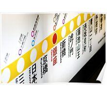 Ginza Subway Sign Poster