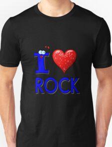 I LOVE ROCK MUSIC. Unisex T-Shirt