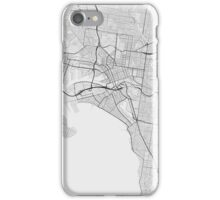 Melbourne, Australia Map. (Black on white) iPhone Case/Skin