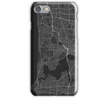 Perth, Australia Map. (White on black) iPhone Case/Skin