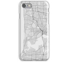 Perth, Australia Map. (Black on white) iPhone Case/Skin