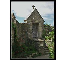 Gateway to chapel garden. Photographic Print