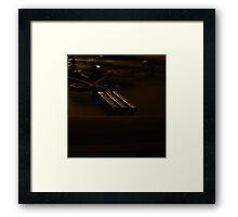 Three (Cast Iron Numeral) Framed Print