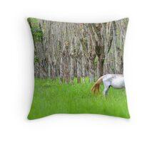 Rubber Plantation Horse Throw Pillow