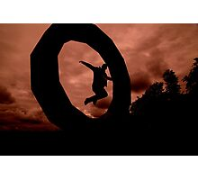 Jumping Through Hoops Photographic Print