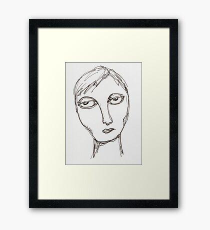 apathetic Framed Print