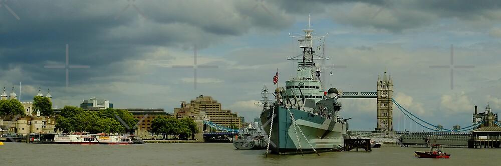 HMS Belfast Panorama by Themis