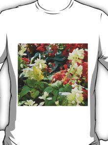 Blooms Of Red And White T-Shirt