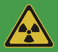 Radioactive Symbol Warning Sign - Radioactivity - Radiation - Yellow & Black - Triangular One Piece - Short Sleeve