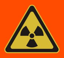 Radioactive Symbol Warning Sign - Radioactivity - Radiation - Yellow & Black - Triangular Kids Clothes