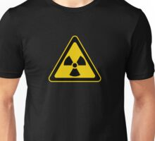Radioactive Symbol Warning Sign - Radioactivity - Radiation - Yellow & Black - Triangular Unisex T-Shirt