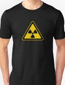 Radioactive Symbol Warning Sign - Radioactivity - Radiation - Yellow & Black - Triangular T-Shirt