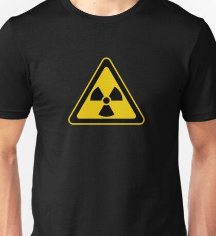 Radioactive Symbol Warning Sign - Radioactivity - Radiation - Yellow & Black - Triangular Unisex T-Shirt