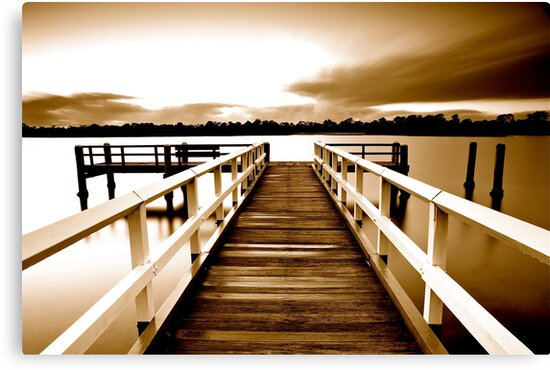 Tweed Jetty Sepia by Maxwell Campbell
