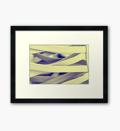 inked cream 2 Framed Print