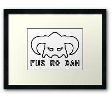 Fus Ro Dah - Skyrim Framed Print