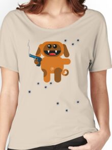 DOG 5  (Armed and highly dangerous!) Women's Relaxed Fit T-Shirt