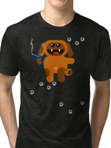 DOG 5  (Armed and highly dangerous!) Tri-blend T-Shirt