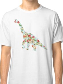 Floral Dinosaur Classic T-Shirt