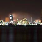 Industrial Newcastle at Night by bazcelt