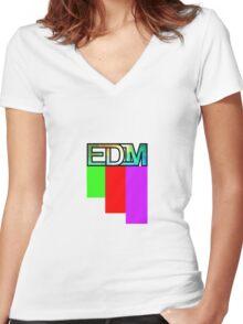 Artistic EDM Women's Fitted V-Neck T-Shirt