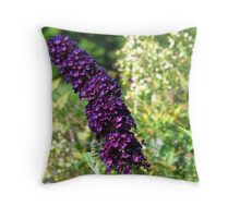 Purple and Orange Flowers, North Carolina Throw Pillow