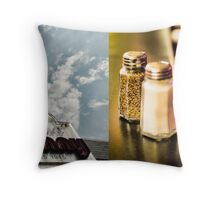 Vintage fast food Throw Pillow