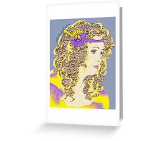 Hippie Chick Number 3 Greeting Card