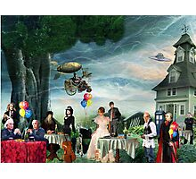 Stephen Hawking's Party Photographic Print
