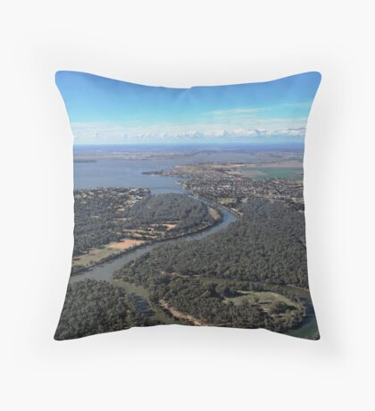 Lake Mulwala - Low level Throw Pillow