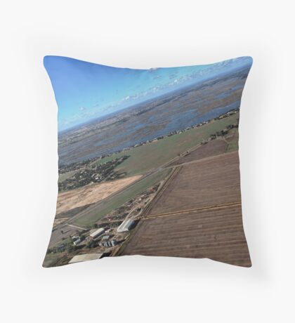 Yarrawonga Farm & Lake Scene Throw Pillow