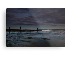 Winter Fishermen Metal Print
