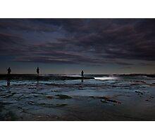 Winter Fishermen Photographic Print