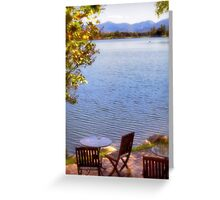 Table For Two - Mirror Lake Greeting Card