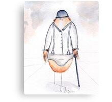 Alex DeLark- Nerdy Birdy Clockwork Orange Canvas Print