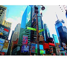 New York, Broadway and Times Square Photographic Print
