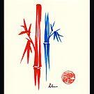 Huntington Gardens Plein Air Drawing Bamboo 3 by Rebecca Rees