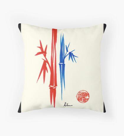 Huntington Gardens Plein Air Drawing Bamboo 3 Throw Pillow