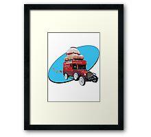 Steampunk Ballooner Wagon Framed Print