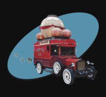 Steampunk Ballooner Wagon Baby Tee