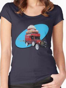 Steampunk Ballooner Wagon Women's Fitted Scoop T-Shirt
