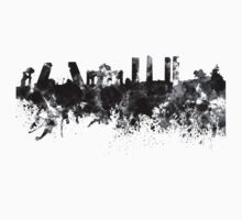 Madrid skyline in black watercolor Kids Clothes