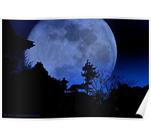 Japanese Tea Garden Moon Poster
